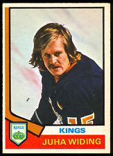 1974-75 OPC O PEE CHEE HOCKEY #258 JUHA WIDING NM L A LOS ANGELES KINGS CARD