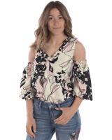 Camicia Body Liu Jo Shirt MADE IN ITALY Donna Bianco I18101T1955 W9997