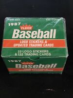 1987 Fleer Baseball UPDATE FACTORY SEALED SET, CASE FRESH, Greg Maddux ROOKIE