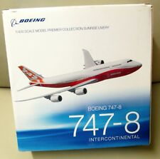 BOEING 1/400 Scale Model 747-8 INTERCONTINENTAL Sunrise Livery Airplane Plane