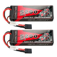 2x 80C 5200mAh 7.4V RC 2S Lipo Battery Traxxas Plug Hardcase For Car Truck Buggy