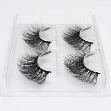 2 Pair False Eyelashes Long Thick Natural 3D Mink Fake Eye Lashes Set Extension