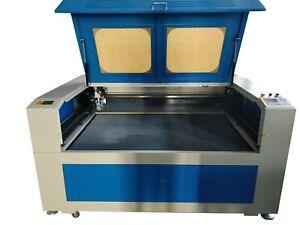 150W HQ1610M CO2 Laser Cutting Machine Cutter Metal S Steel MDF Acrylic Nonmetal