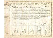 Oregon and Transcontinental Company  1882 1000$ Bond