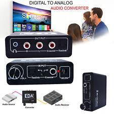 Digital to Analog HiFi Headphone SPDIF Optical Coaxial Amplifier Audio Converter