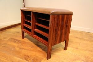 Danish Rosewood stool with organiser compartment - Vintage Mid Century 60s / 70s