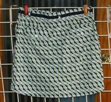 SIZE 6 NIVO BY LANCTOT WHITE, BLACK AND BRIGHT GREEN SKORT