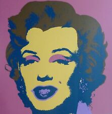 "ANDY WARHOL MARILYN MONROE SUNDAY B.MORNING Silk-screen 11.27 with COA 36""x36"""