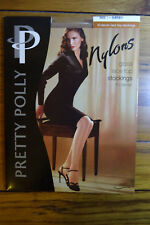Pretty Polly Nylons Gloss Lace Top Stockings 10 Denier Size 1 Sherry