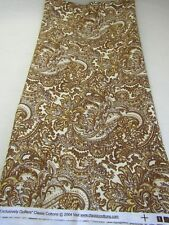 Exclusively Quilters Classic Cottons Fabric Brown Ivory Paisley Blender 27L 44W