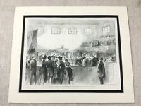 Antique Print Lord Mayor of Dublin Ireland Courtroom Irish Independence Eire