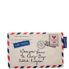 Pretty Paper Plane Vintage Envelope Style Cute Girls Womens Zip Purse Wallet