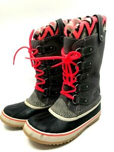 Sorel Joan of Arctic Knit II Gray Waterproof Lace-up closure Winter Boots $169
