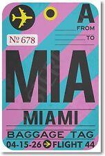 MIA - Miami - Airport Baggage Tag - NEW Travel POSTER (tr512)