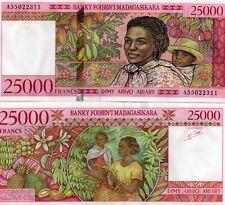 MADAGASCAR Africa 25000 Francs aUNC+ 1998 p-82
