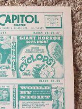Sci Fi Classic The Cyclops Movie Original Theatre Flyer