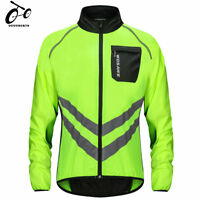 Men's Bike Cycling Jacket Jersey Long Sleeves Wind Coat reflective windbreaker
