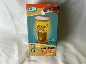 RETRO MOLSON CANADIAN Glass Novelty Beer Pint Money Box Savings