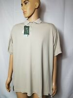 Woolrich Destination Polo Shirt Mens Size XL Biege Short Sleeve New NWT