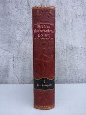 Herders Konversations-Lexikon, Dritte Auflage, Halbleder, nur Band 1, A bis Bona