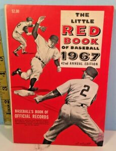 1967 The Little Red Book of Baseball Official Records Mickey Mantle Near Mint