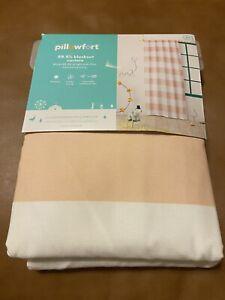 """Pillowfort Panel Pink Twill Light Blocking Curtain 42"""" x 84"""" New"""