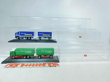 AU880-1# 2x Herpa H0 LKW/Lastzug Mercedes-Benz/MB: Ottensmann+Kleine, in Vitrine