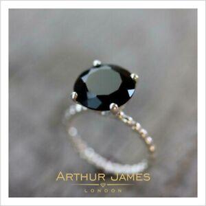 Black Diamond 4 Ct Round Cut Women Engagement Cocktail Ring White Gold Jewelry