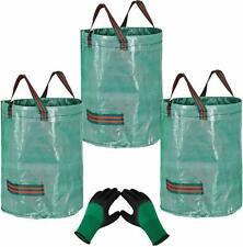 3 sacs de jardin de 272 L indéchirables et 1 paire de gants , déchets pelouse