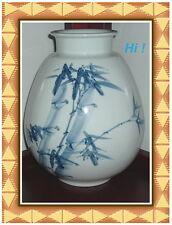 Hand Painted Korean Decorative Vase - Bamboo