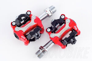 NEW WELLGO M250 MTB BIKE CLIPLESS PEDALS SHIMANO SPD COMPATIBLE Cleat 98A RED