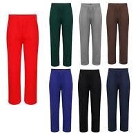 Kids Boys Girls Unisex Fleece Jogging Bottoms School PE Warm Winter Pants