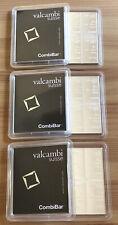 3x 100g Silber Tafel Barren (3 Stück 10x10g) Original CombiBar Valcambi Suisse
