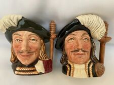 """New ListingRoyal Doulton """"Athos"""" and """"Aramis"""" (Musketeers) 4"""" Toby Jugs"""