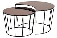 pkline Table basse ensoleillé Jeu de 2 Lot en verre d'appoint salon
