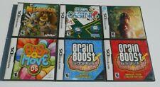 Nintendo DS Game LOT 6 Madagascar Bust-a-Move Sega Casino Narnia Brain Boost NDS