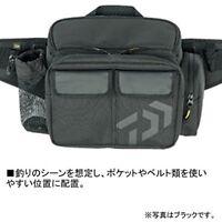 Daiwa Daiwa tackle bag hip bag LT C black 67341 JAPAN