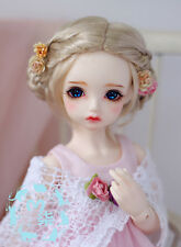 【M7】mo-hair blonde Updo buns WIG bjd MSD 1/4 size doll use