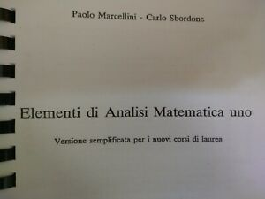 Elementi di analisi matematica 1. Marcellino sbordone