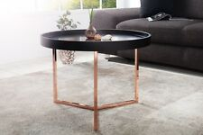 Coffee Table,Side Table Triton 60cm Black Copper Retro Design Tray Table