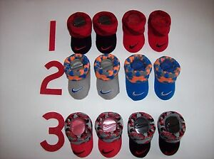 Nike Crib Shoes Booties Socks Baby Boy Girl Swoosh Select Style Color 0-6 Mo NIB