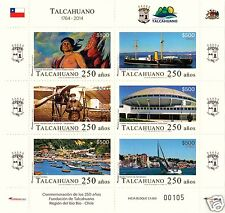 CHILE, 250th. ANNIV. OF TALCAHUANO CITY, MNH, YEAR 2014, ONLY 30,000 PRINTED