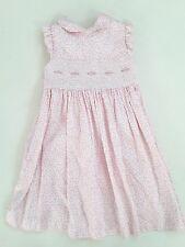 LAURA ASHLEY Girls 4T Vintage Floral Smocked Dress Embroidered EUC