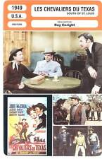 LES CHEVALIERS DU TEXAS - McCrea,Enright(Fiche Cinéma) 1949 - South of St. Louis