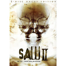 Saw II (DVD, 2006, 2-Disc Set, Uncut Edition) Lenticular Cover Horror Gore