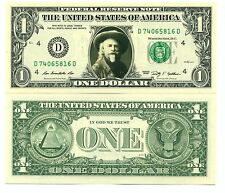 BUFFALO BILL - VRAI BILLET 1 DOLLAR US! Collection Histoire Far West Indiens USA