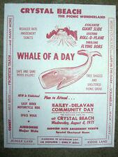 1971 Vintage Crystal Beach Amusement Park Sign WILD MOUSE/COMET/MAGIC CARPET Etc