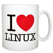 MugBug I Love Linux Boxed Mug Red Love Heart