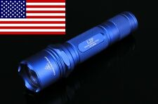 USA SHIPPING * 2011 Solarforce L2p BLUE CR123A/186​50 P60 Flashlight Body Host