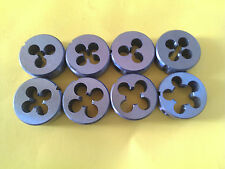 "8x OD 1"" / 25mm Die Buttons Set Metric M3 M4 M5 M6 M7 M8 M10 M12 x 1.75 RH."